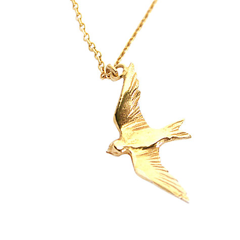 Gold bird pendant birds of prey torques necklace bird mozeypictures Choice Image