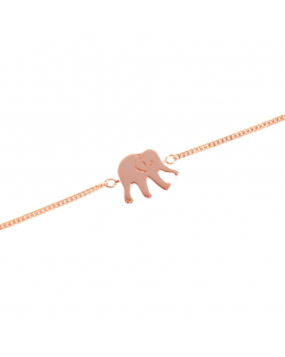 Bracelet Constant the Elephant - Rose gold plated