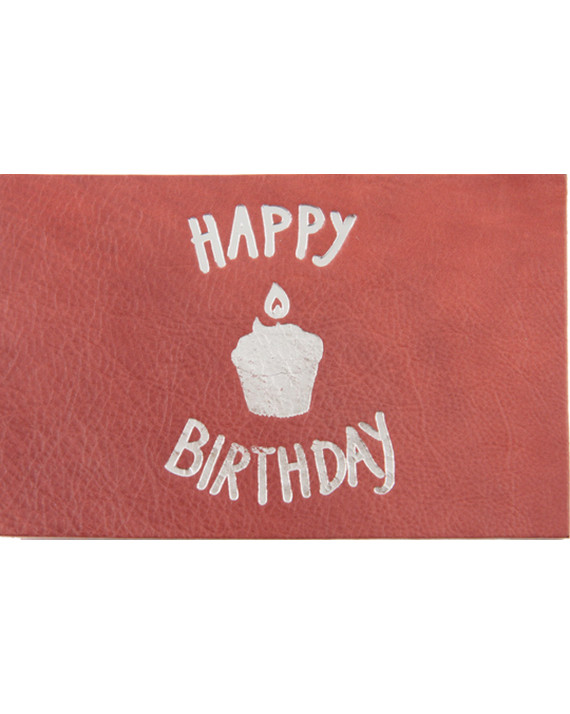 Happy Birthday Leather Card | Bandit Manchot