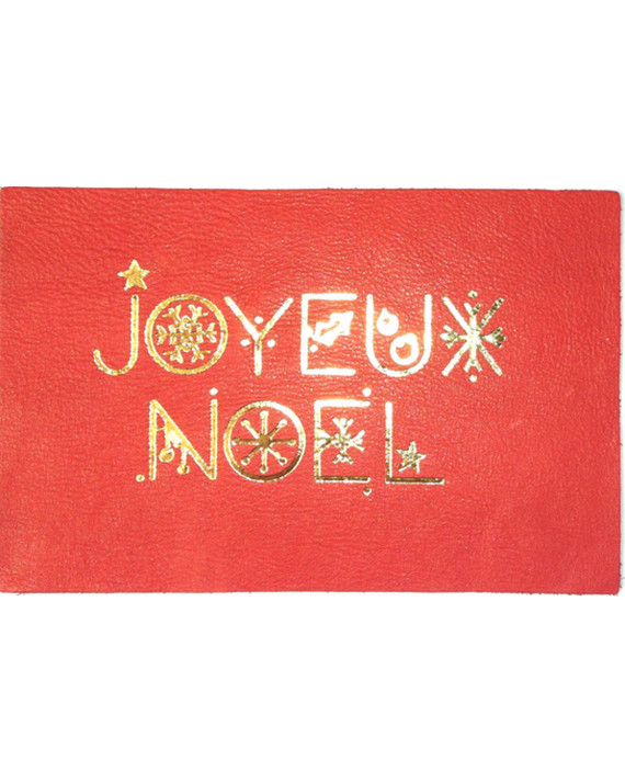Merry Christmas Leather Card | Bandit Manchot