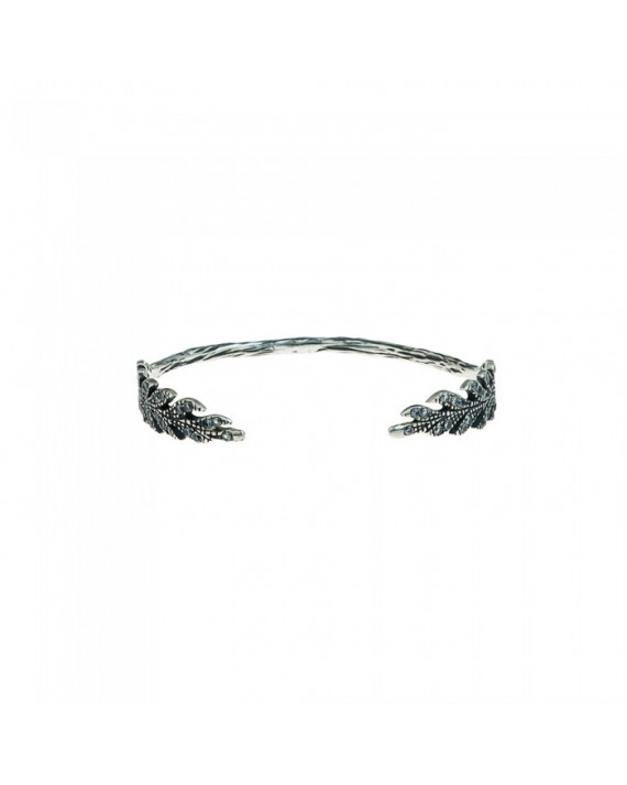 Bracelet Jonc Antique Aile Rhodium
