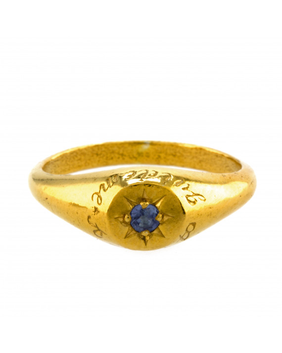 "Bague Saphir "" A star to guide me"" vermeil"