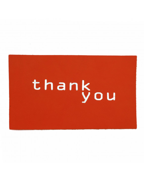 Leather postcard - Thank you