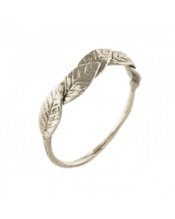 Bird of Paradise Leaf Ring - Silver