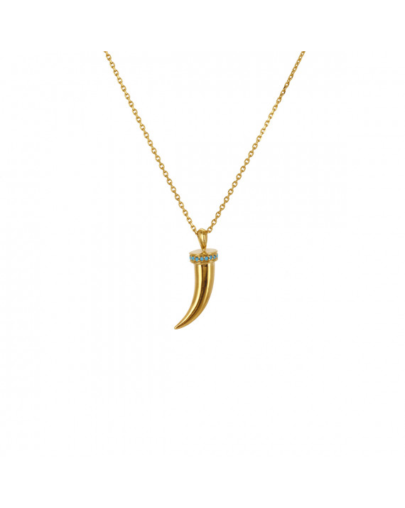 Necklace Hope Horn - Turquoise -