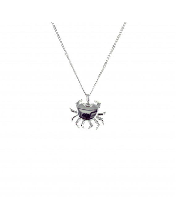 Origami Jewellery Sterling Silver Crab Necklace xgLeT