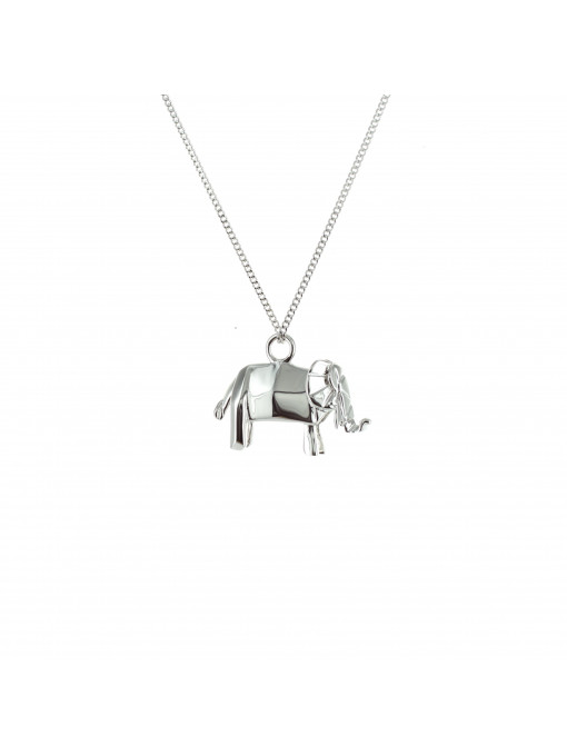Origami Jewellery Sterling Silver Mini Elephant Origami Necklace yddPQr