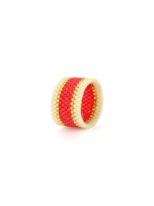 Bague Endito Wide Woven Ring - Corail | Sidai Designs
