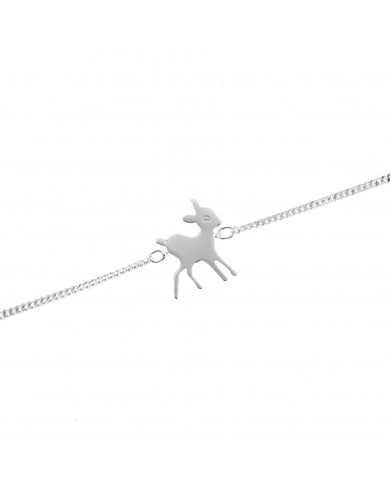 Bianca the Doe Bracelet - Silver
