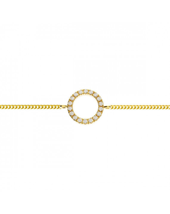 Small Circle of Life bracelet - Silver