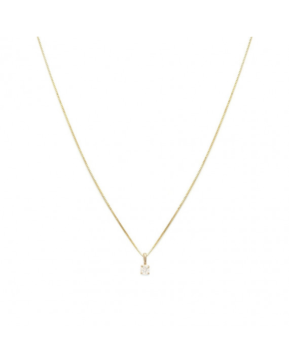 Collier Element - Avril - Saphir blanc | Leah Alexandra