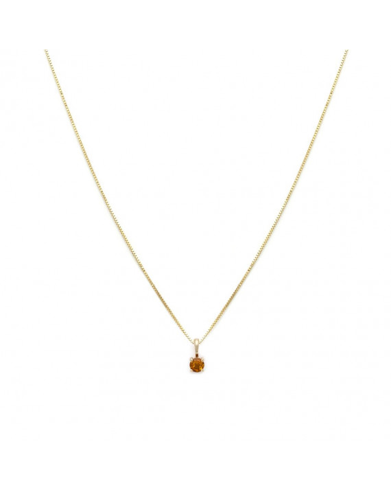 Collier Element - Novembre - Citrine | Leah Alexandra
