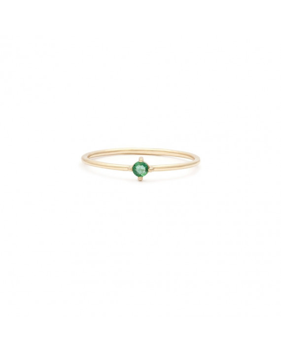 Element Birthstone Ring - May - Emerald | Leah Alexandra