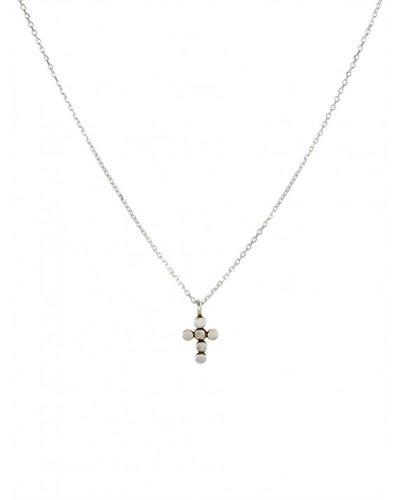 Mini Cross Necklace - Silver Gold Plated | Stalactite