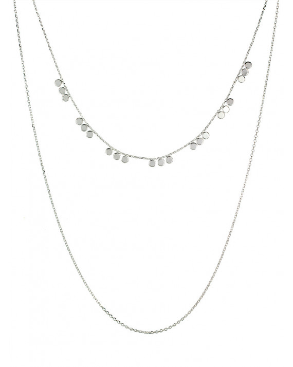 Justine Double Necklace - Silver Plated | Stalactite