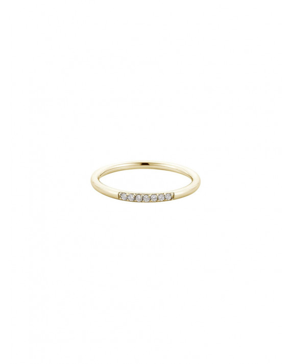 Solitaire Pierre Bleue Eternity Ring White Gold Filled Wedding Band Ring pour Femme