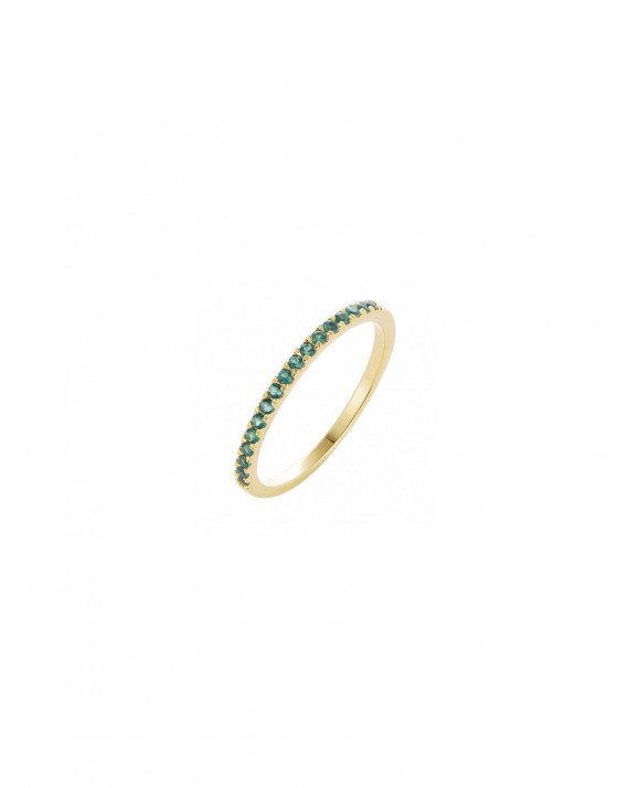Band Ring - Green - Silver | IMaGiN Jewels