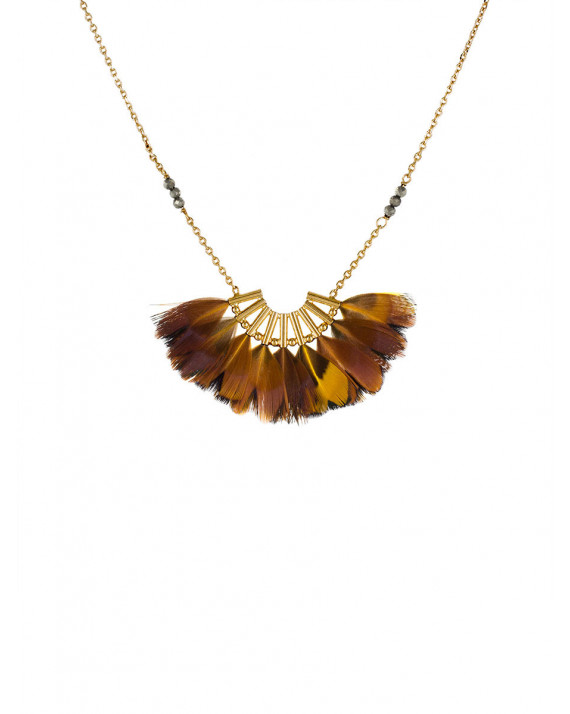 Eagle Necklace - Yellow Feathers | Stalactite