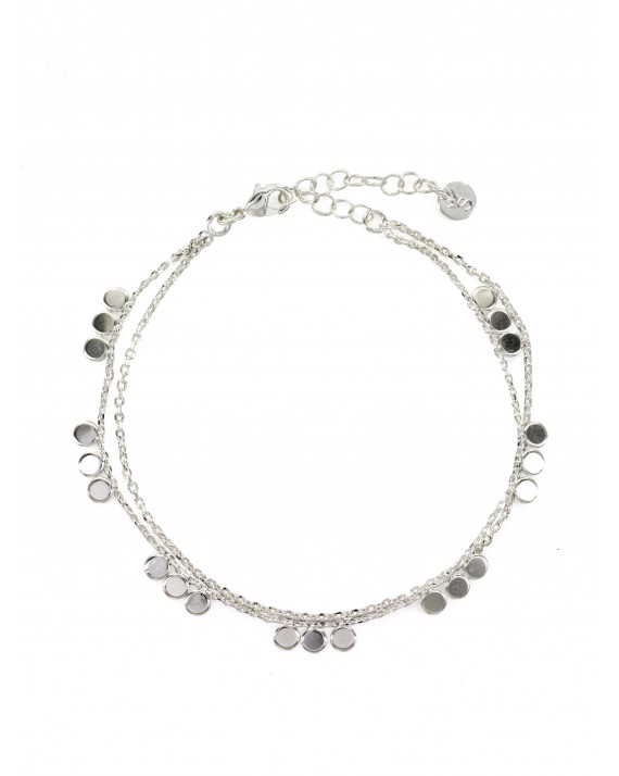 Justine Double Bracelet - Silver Plated | Stalactite