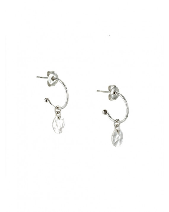Grigri Hoops Earrings - Medal - Silver | Stalactite