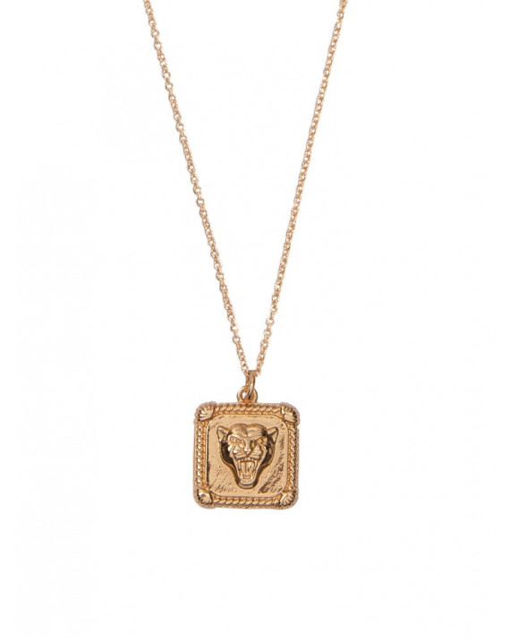 Panter Square Charm Necklace | All The Luck In The World