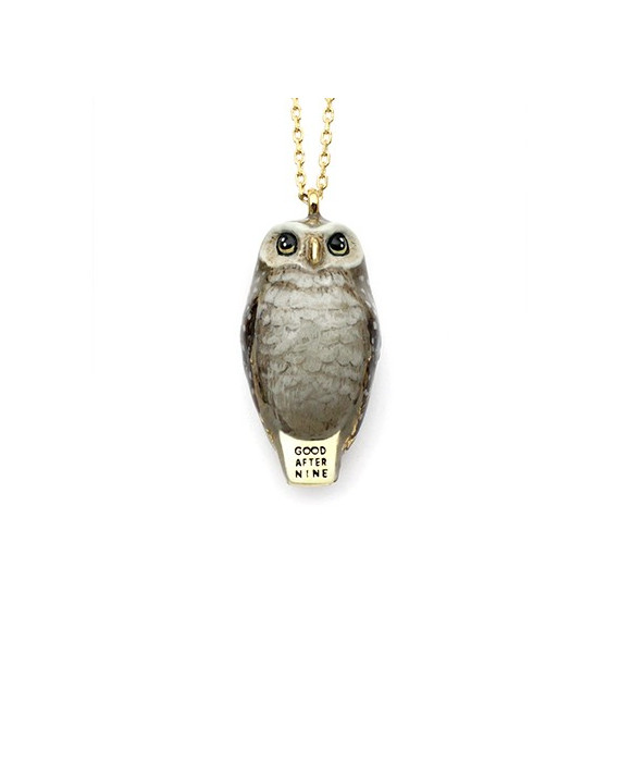 Happy Owl Necklace | Good After Nine