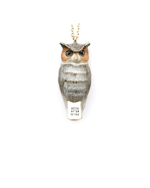 Merry Great Horn Owl Necklace | Good After Nine