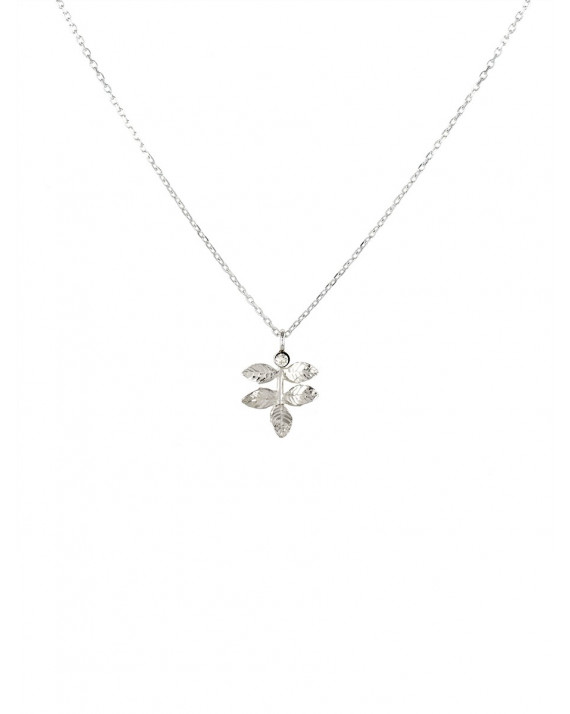 Petit Leaves Necklace - Sterling Silver | Stalactite
