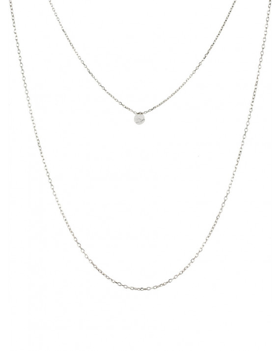 Pastille Double Necklace - Sterling Silver   Stalactite