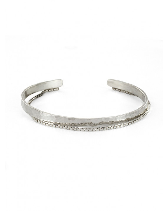 Large Chance Cuff Bracelet - Sterling Silver | Stalactite