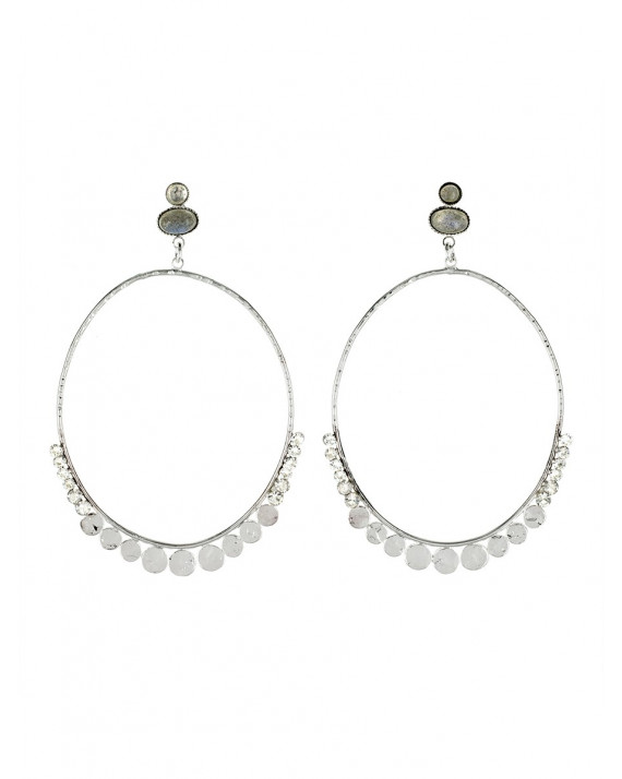 Constance Hoops Earrings - Silver Plated | Stalactite