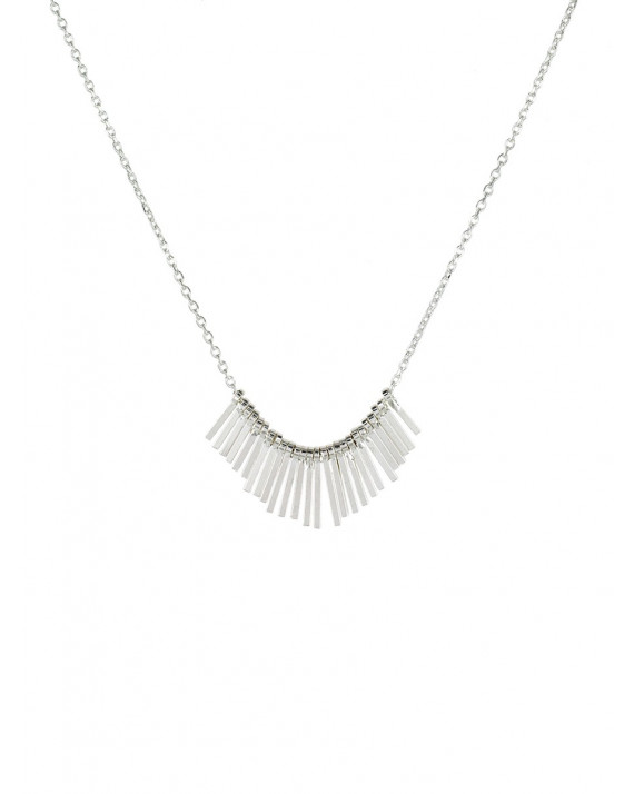 Carmen Necklace - Silver Plated   Stalactite