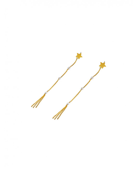 Star Rain Pearl Earrings