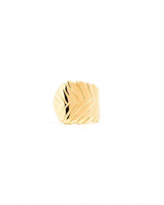 Native Ring - Silver Gold-Plated | Louve de Lattre