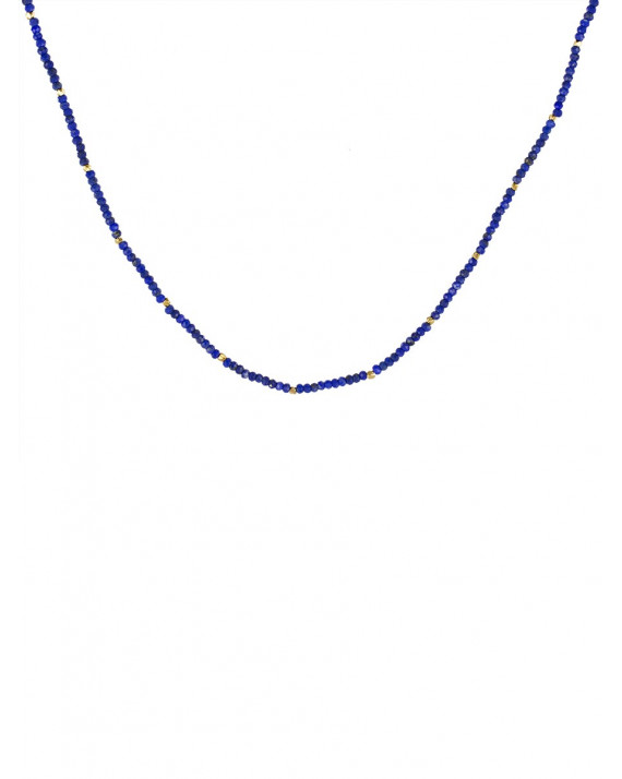 Pearl Necklace - Lapis, Gold Plated | Stalactite