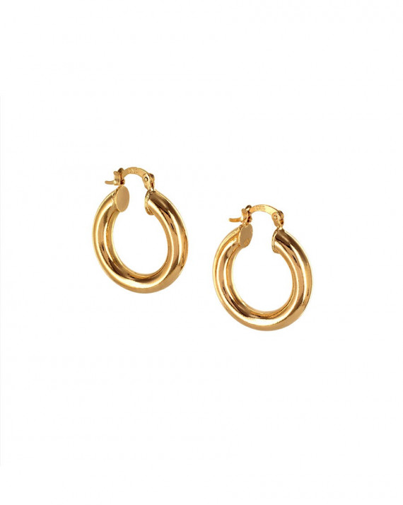 Thick Hoop Earrings - 25 mm - Gold Plated | Tayl Bijoux