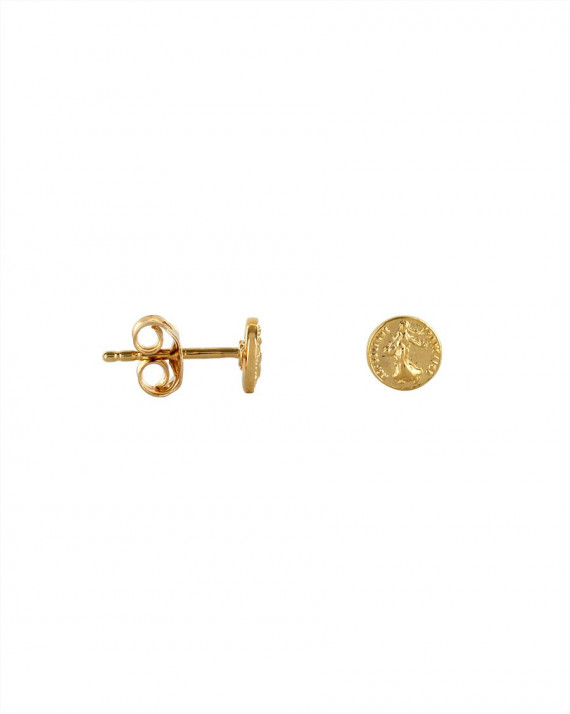 Marianne Coin Earrings - Gold Plated | Tayl Bijoux