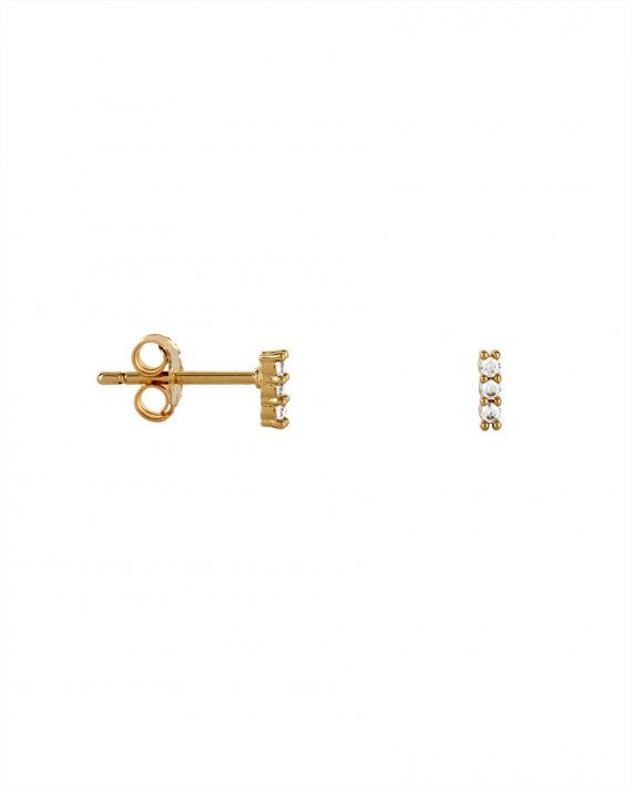 Mini Line Earrings - Gold Plated | Tayl Bijoux