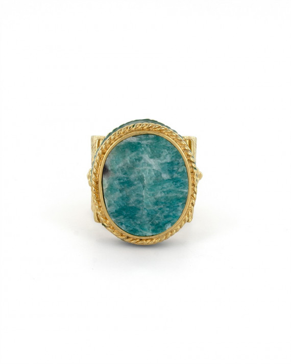 Juliet Oval Ring - Amazonite | Room Service