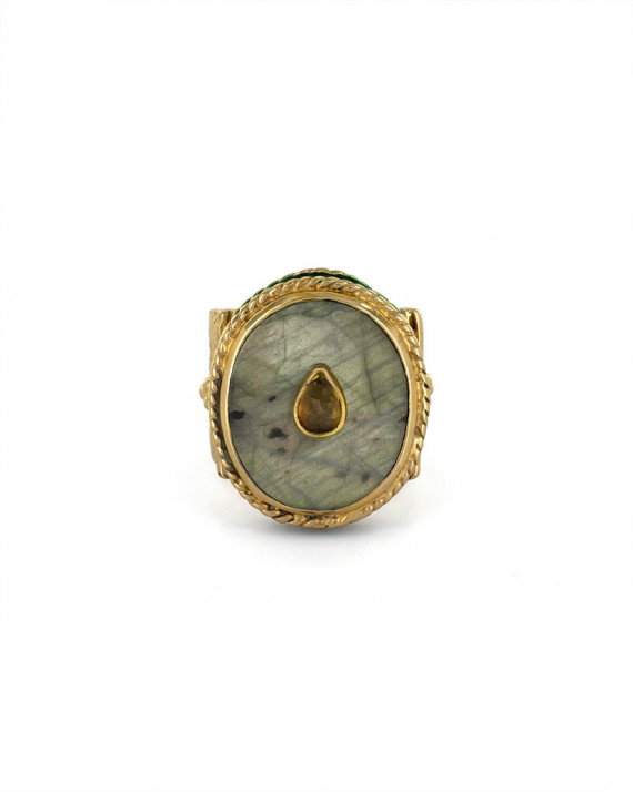Juliet Oval Set Ring - Labradorite | Room Service