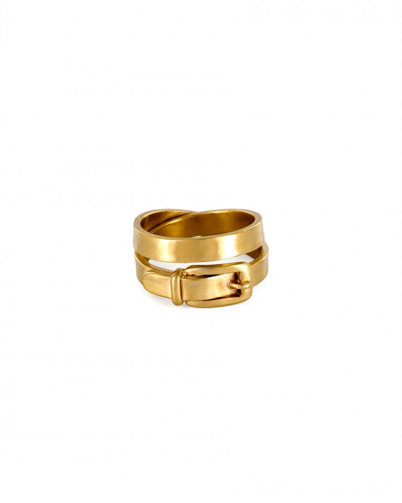 Buckle Ring - Silver Gold Plated   Stalactite