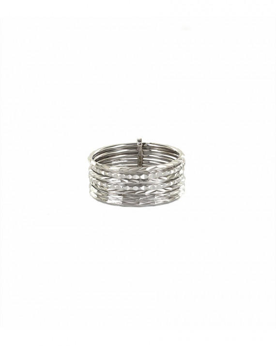 Semainier Chiselled Ring - Silver   Tayl Bijoux