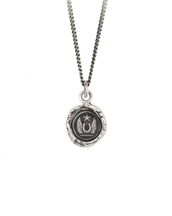 Luck & Protection Talisman Necklace - Sterling Silver   Pyrrha