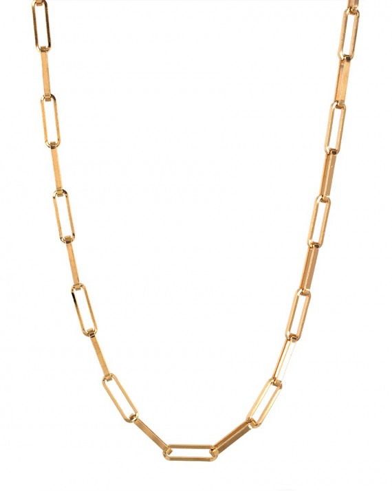 Link Long Necklace - The n°5 - Gold Plated   Tayl Bijoux